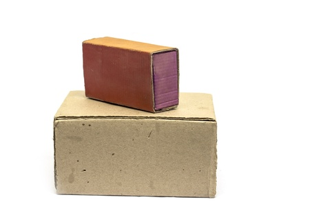 cardboard boxes on a white background Stock Photo - 17616347