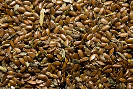 flax seeds for further processing photo