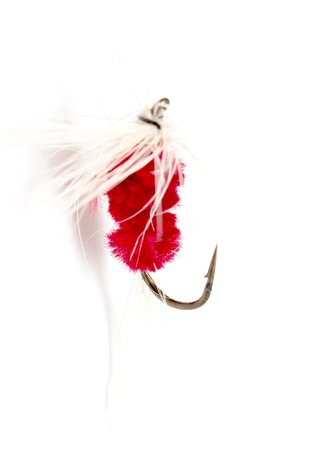Assorted fly fishing lures photo