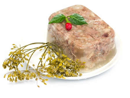 jellied meat aspic photo