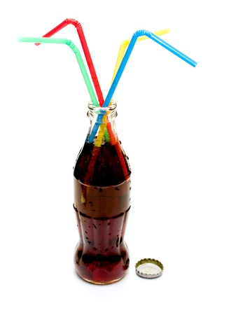 a bottle of  soda isolated  Stock Photo - 17616023