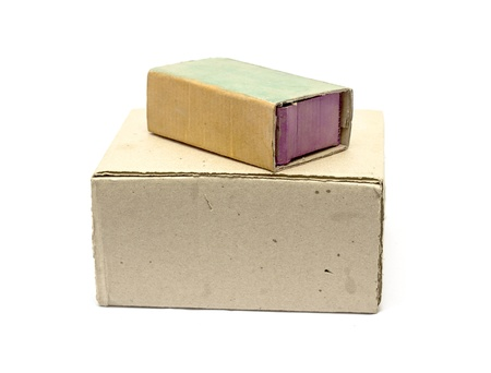cardboard boxes on a white background Stock Photo - 17616460