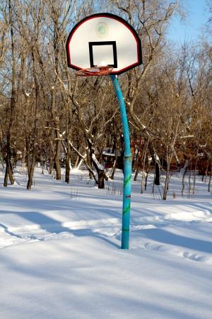 backboard: basketball backboard winter