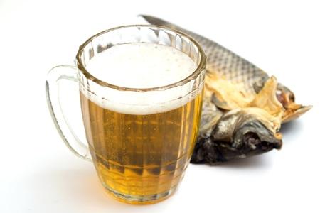 beer mug with a fish photo