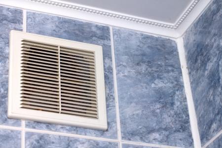 vent in the bathroom Stock Photo