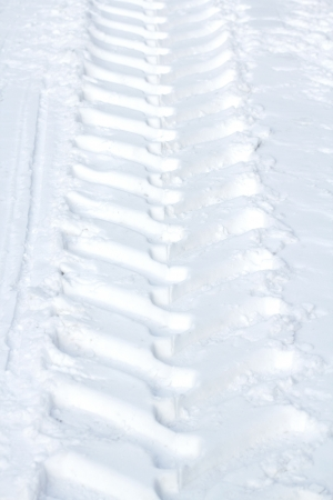 tire track in the snow photo