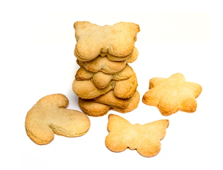 cookies isolated on white background photo