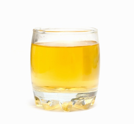 apple juice on a white background photo