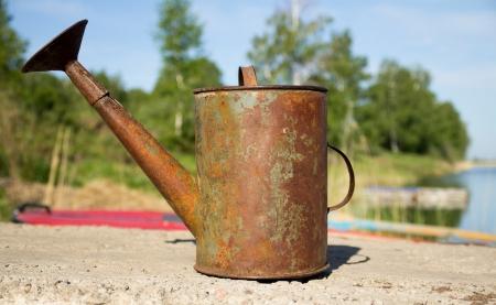 metal watering old Stock Photo - 18408088