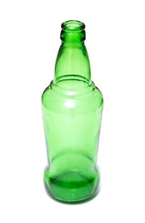green bottle on a white background Stock Photo - 18418671