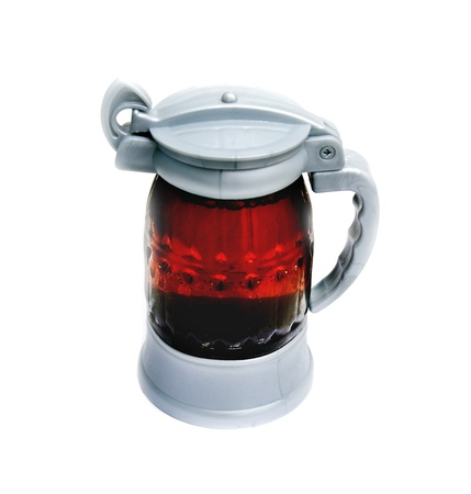closed with a beer mug on a white background Stock Photo - 18472143