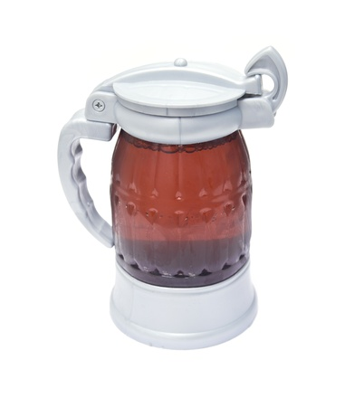 closed with a beer mug on a white background Stock Photo - 18446400