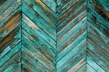 Close-up van grijze houten schutting panelen