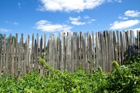 nature of the fence and the sky Stock Photo