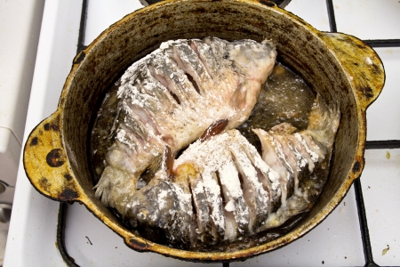 fried bream Stock Photo - 18460879