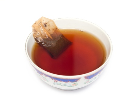 cup of tea with a bag of Stock Photo - 18462636
