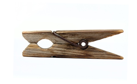 antique wooden clothespin Stock Photo - 18760763