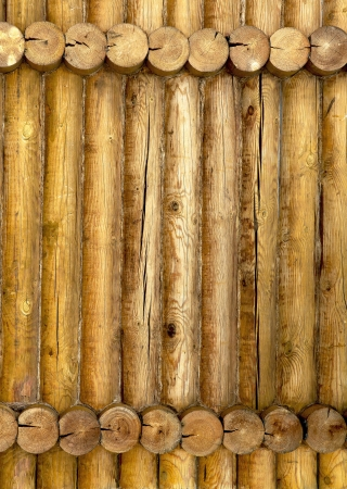 Close up of gray wooden fence panels photo