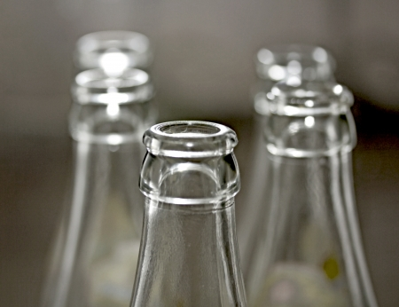 Glass empty bottle photo