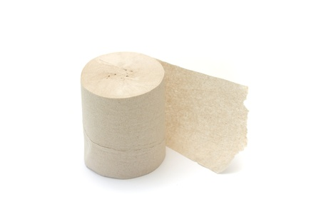 roll of toilet paper on a white background photo