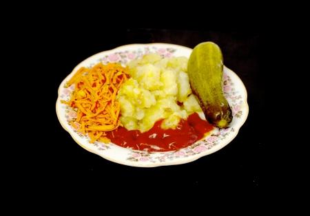 pancetta cubetti: patate fritte