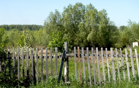 log wall: old wooden fence