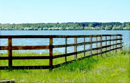 wooden fence: old wooden fence