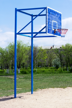 the height of a rim: Outdoor basketball court Stock Photo
