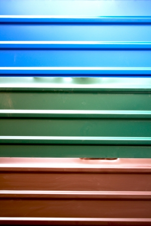 galvanize: The Colorful roof metal Stock Photo