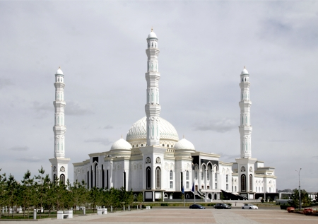 astana: beautiful mosque in Astana Stock Photo