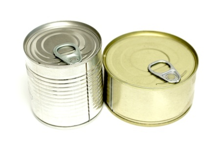 canned meat on a white background Stock Photo - 20734096