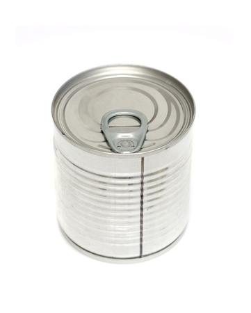 canned meat on a white background Stock Photo - 20813648