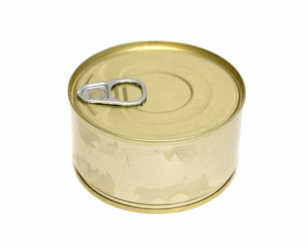 canned meat on a white background Stock Photo - 20813951