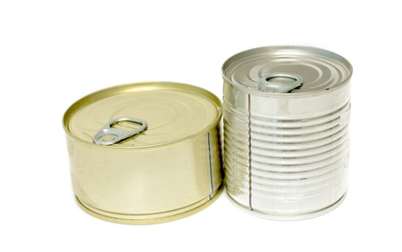 canned meat on a white background Stock Photo - 20813954