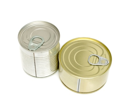 canned meat on a white background Stock Photo - 20813956