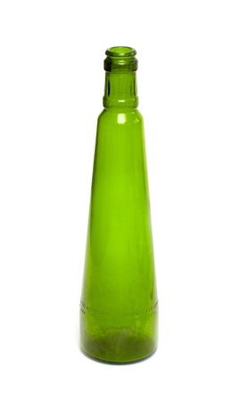 Isolated Empty Green Bottle on White Background Stock Photo - 21277060