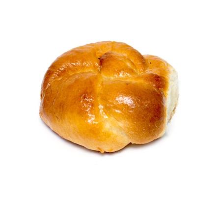 Homemade pasty isolated on white background Stock Photo