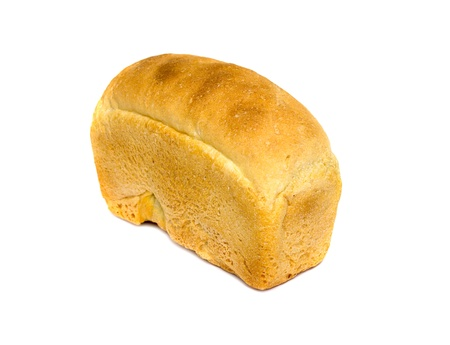 loaf of white bread,  on a white background photo