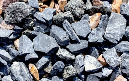 Rail road track ballast stone gravel close-up as background Stok Fotoğraf - 21696892