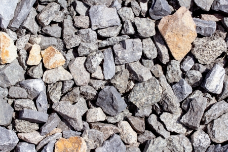 Rail road track ballast stone gravel close-up as background Stok Fotoğraf - 21696897