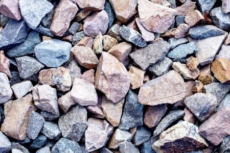 Rail road track ballast stone gravel close-up as background Stok Fotoğraf - 21696912