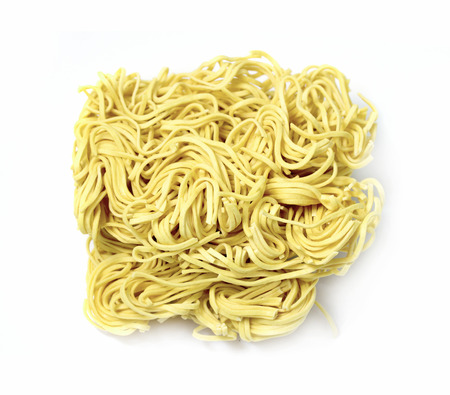 pasta noodles on a white background photo