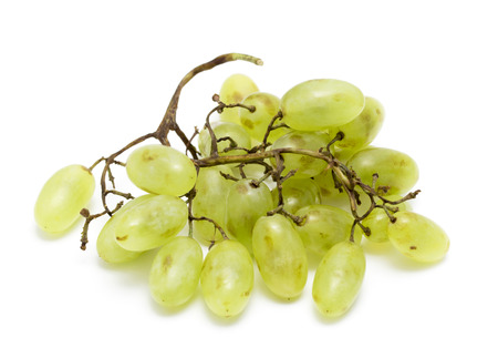 Cluster of White Muscat Grapes Isolated on White Background photo