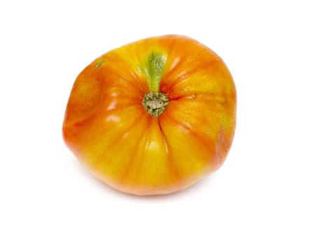 moulder: old tomato on white background