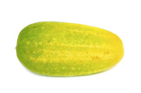 overripe: overripe cucumber on white... Stock Photo