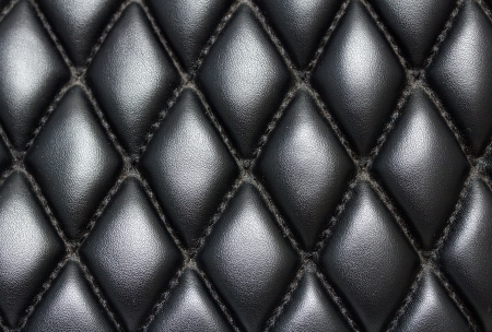 black quilted leather background Stock Photo - 22691173