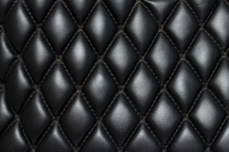black quilted leather background Stock Photo - 22691176