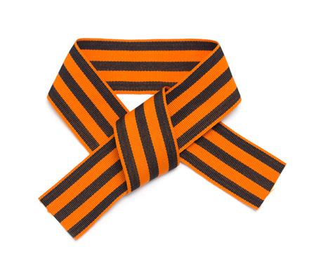 St. George ribbon isolated on white Stock Photo - 22691329