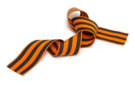 St. George ribbon isolated on white Stock Photo - 22691388