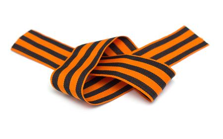 St. George ribbon isolated on white Stock Photo - 22691371